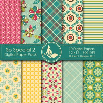 So Special 2 Digital Papers