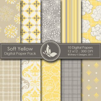 Soft Yellow Digital Paper Pack