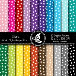 Stars Basic Digital Paper Pack