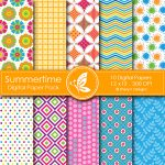 Summertime Digital Papers