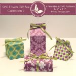 SVG & Printable Favors Gift Box Collection 2