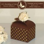 SVG & Printable Favors Gift Box 1
