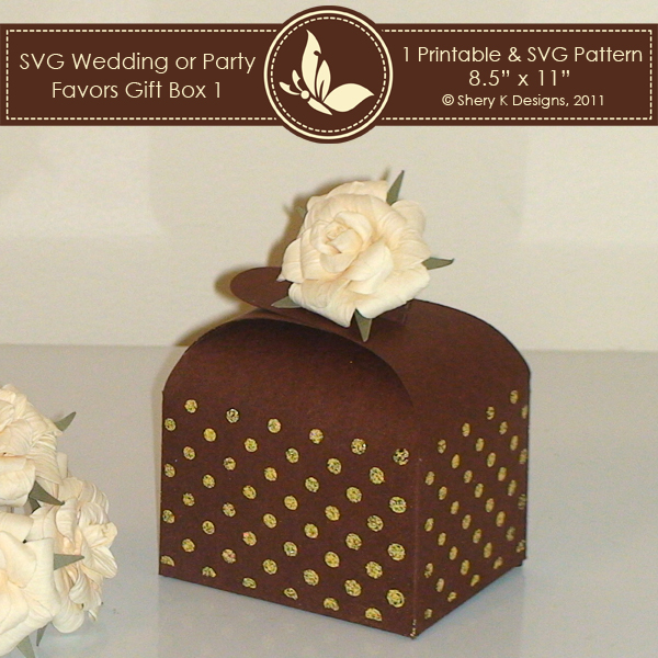Wedding Gift Box Pattern : ... SVG Cutting Templates Favor Boxes SVG & Printable Favors Gift Box 1