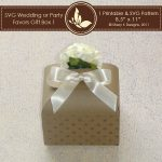 SVG & Printable Favors Gift Box 1 2