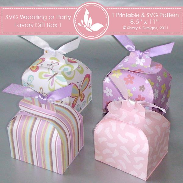 Svg Printable Favors Gift Box 1