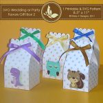 SVG & Printable Favors Gift Box 2