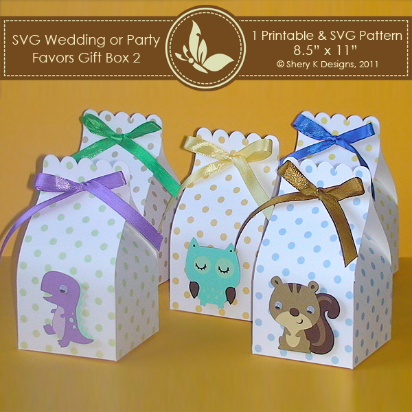 SVG & Printable Favors Gift Box 2 – Shery K Designs