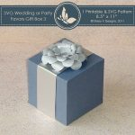 SVG & Printable Favors Gift Box 3 With Flower