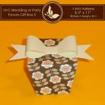 SVG Favors Gift Box 5 with Bow 3