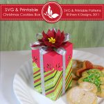 SVG & Printable Christmas Cookies Box