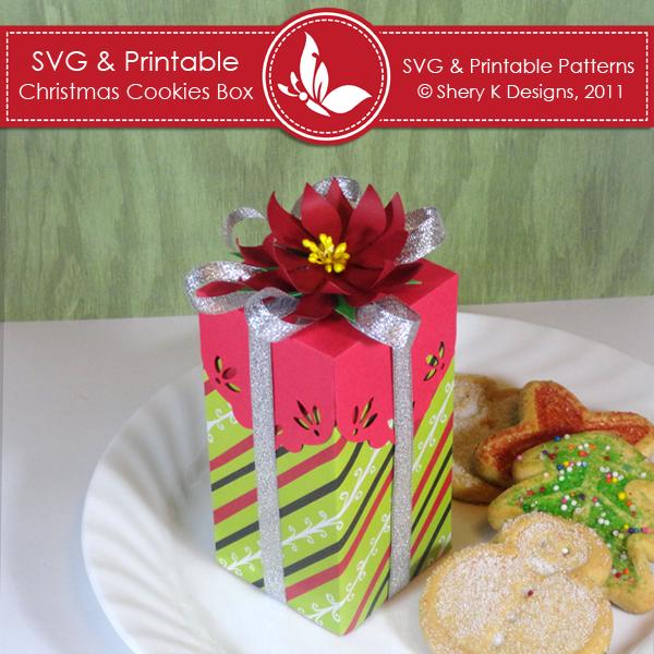 Svg Printable Christmas Cookies Box Shery K Designs