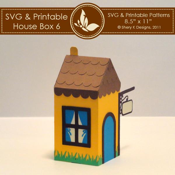 SVG & Printable House Box 6