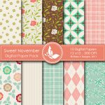 Sweet November Digital Papers