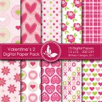 Valentine's Day 2 Digital Papers
