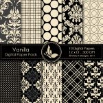 Vanilla Digital Paper Pack