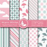 Warm Winter Digital Papers