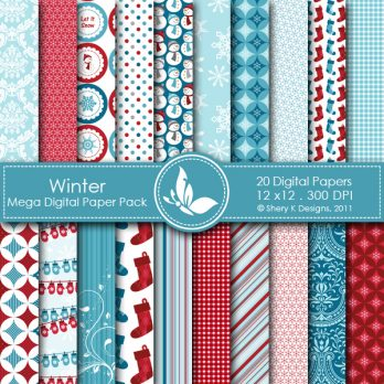 Winter Digital Paper Pack