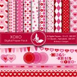 XOXO Digital Valentine's Day Papers
