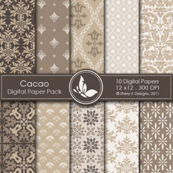 Cacao Digital Paper Pack