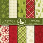 Christmas 3 Digital Paper Pack