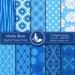 More Blue Digital Paper Pack