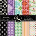 Flamingo Digital Paper Pack