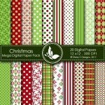 Christmas 1 Digital Paper Pack