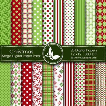 Christmas 1 Digital Paper Pack