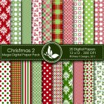 Christmas 2 Digital Paper Pack