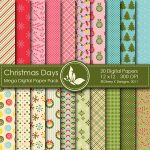 Christmas Days Digital Paper Pack