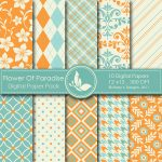 Flower Of Paradise Digital Papers