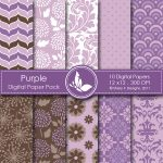 Purple Digital Paper Pack